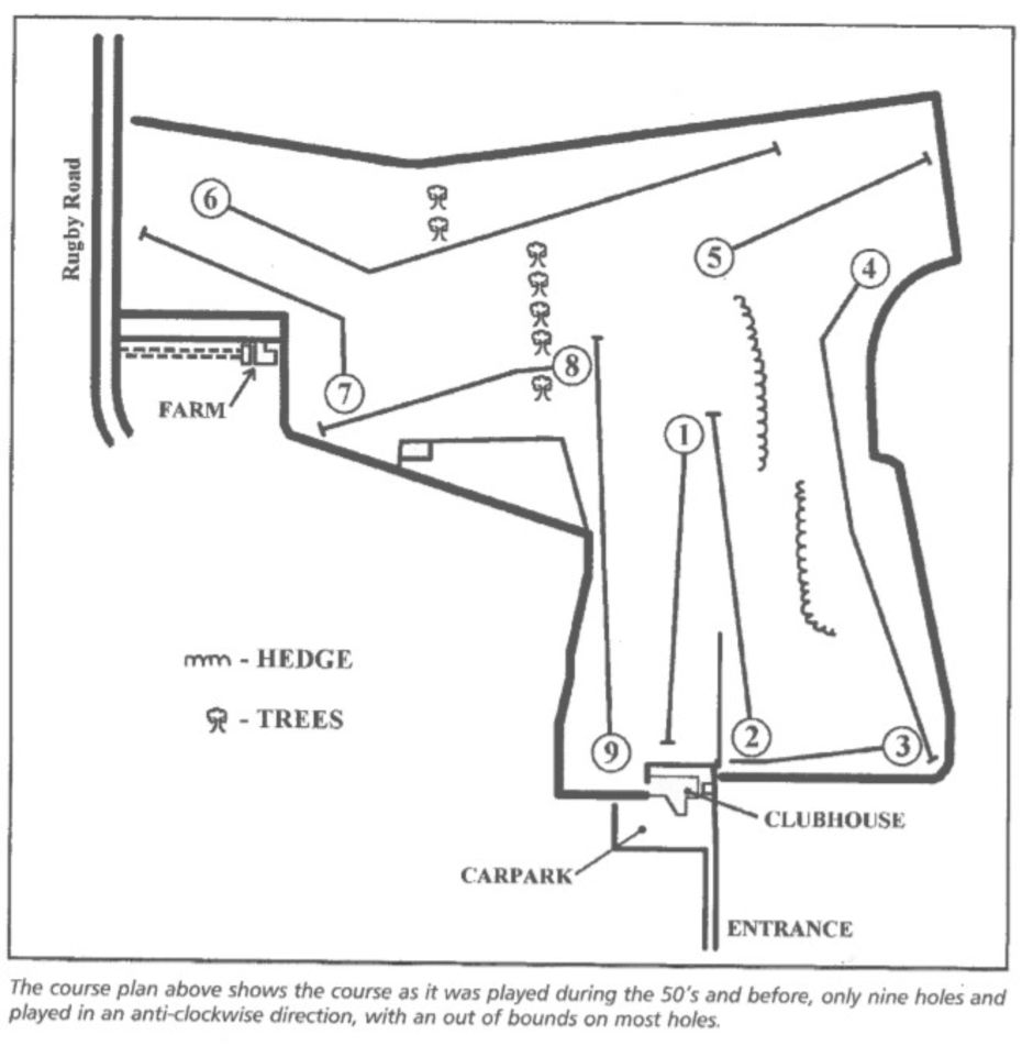 Lutterworth Golf club course layout in 1904